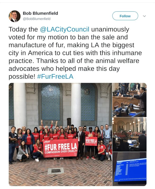 Los Angeles Fur Ban